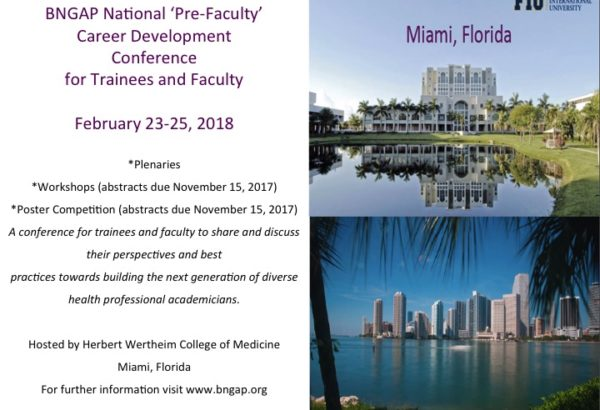 2018 National 'Pre-Faculty' Career Development Conference